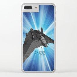 F-302 design 2 Clear iPhone Case