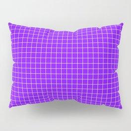Purple Grid White Line Pillow Sham