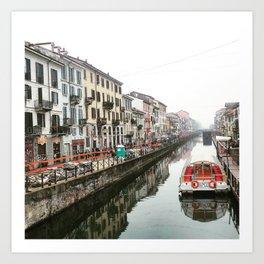 Milano Navigli - Italy Art Print