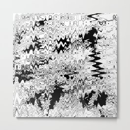 Monochrome wave Metal Print