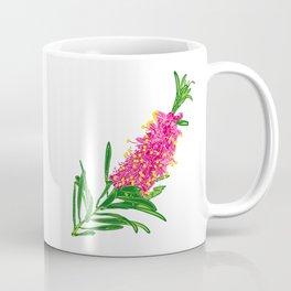 Beautiful Pink Australian Native Floral Illustration Coffee Mug