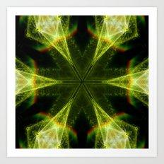 Neon Green Kaleidoscope Art Print