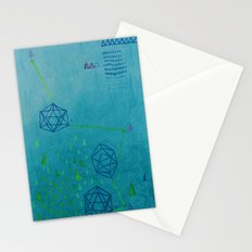 Icosahedron (Water) Stationery Cards