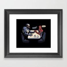 OK, Let's settle this! Framed Art Print