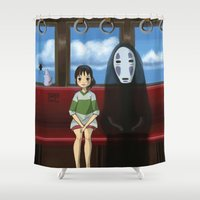 spirited away Shower Curtains featuring Spirited Away  by Tamy Sal