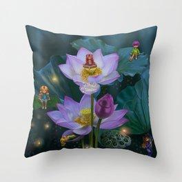 Lotus of India Throw Pillow