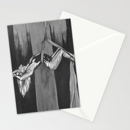 Hanging by a Thread Black and White Stationery Cards