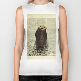 Otter in Love Biker Tank