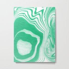 Akihiko - spilled ink abstract watercolor marble paper marbling ocean water waves sea minimal  Metal Print