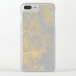 Trees Map VI Clear iPhone Case