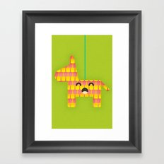 Party Piñata Framed Art Print