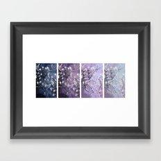 Vincent Van Gogh : Almond Blossoms Panel Art Dark Blue Purple Lavender Framed Art Print