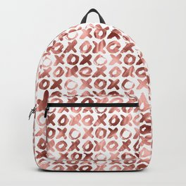 XOXO Kiss Me Rose Gold Pattern Backpack