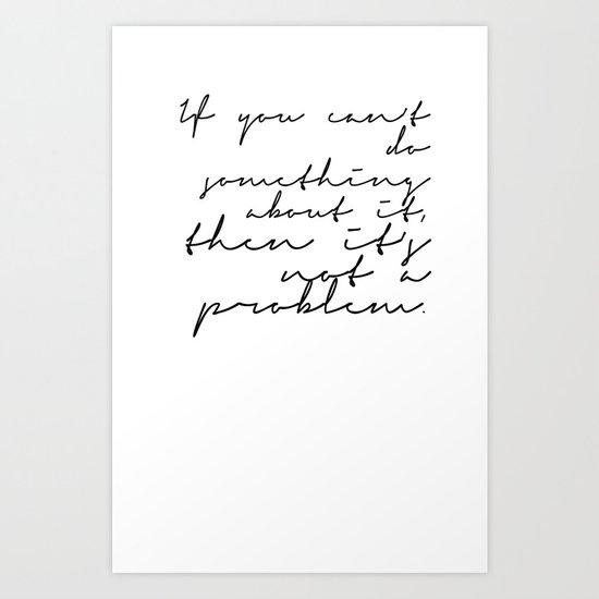 A PROBLEM Art Print