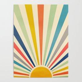 Sun Retro Art III Poster