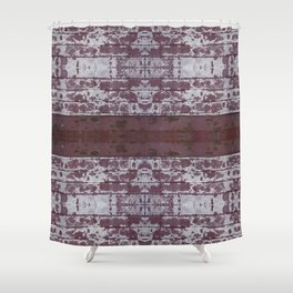 Rusty Brick Shower Curtain