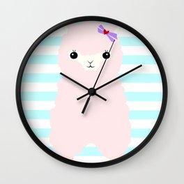 Alpaca In Love  Wall Clock