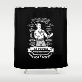 Vintage Boxing - Black Edition Shower Curtain