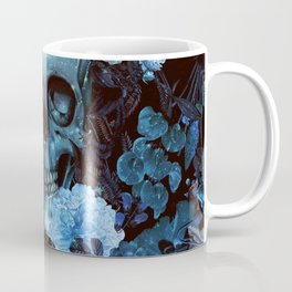 Skull and Flowers Coffee Mug
