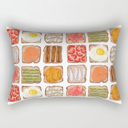 Breakfast Toast Rectangular Pillow
