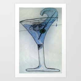 martini Mo cartoon Art Print