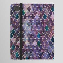 Mermaid Dark Purple iPad Folio Case