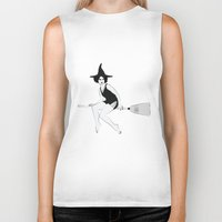 witch Biker Tanks featuring Witch by Inbeeswax