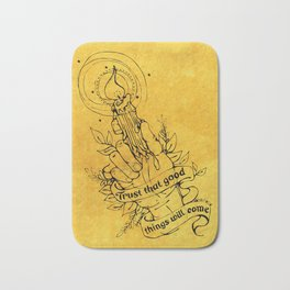 Candle Light Hope (Yellow Colors) Bath Mat