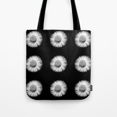 Fleabane B and W Tote Bag
