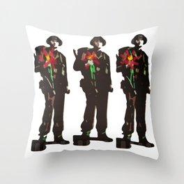 Flowers Not Guns Throw Pillow