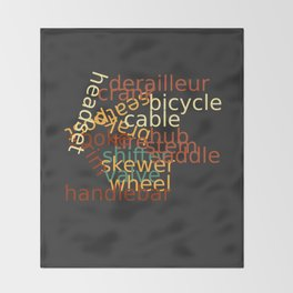 I Love Bicycles Throw Blanket