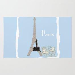 Paris in Powder Blue Rug