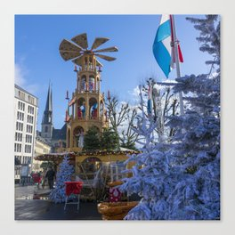 Luxembourg winter turbine Canvas Print
