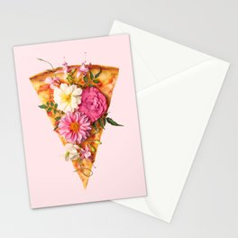 FLORAL PIZZA Stationery Cards