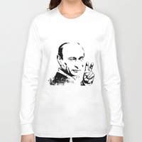 putin Long Sleeve T-shirts featuring Putin cool by Valentina