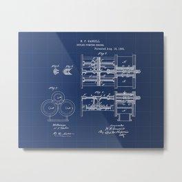 Duplex Pumping Engine Vintage Patent Hand Drawing Metal Print