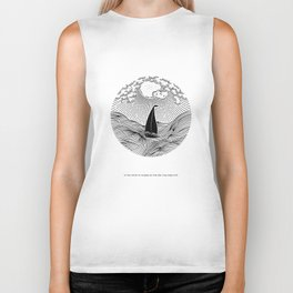 IN THE WAVES OF CHANGE WE FIND OUR TRUE DIRECTION Biker Tank