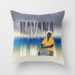 Havana Conguero Throw Pillow