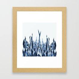 Blue Duotone Framed Art Print