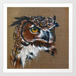 The Great Horned Owl Art Print