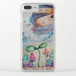 Under the Moon Clear iPhone Case