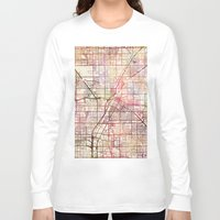las vegas Long Sleeve T-shirts featuring Las Vegas by MapMapMaps.Watercolors