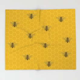 Bees and Honey Throw Blanket