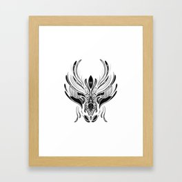 Dragon Head Framed Art Print