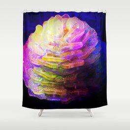 Sculpted Miniature Floral Shower Curtain
