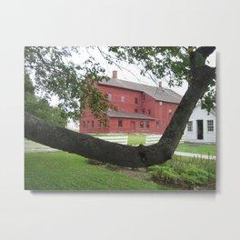 Farm and Crabapple Tree Metal Print