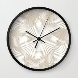 Optical Illusion I - Get Lost (Gold on White) Wall Clock