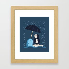 Helpful Narwhal Framed Art Print