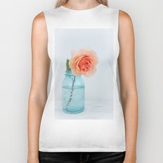 Rose in a Jar Biker Tank
