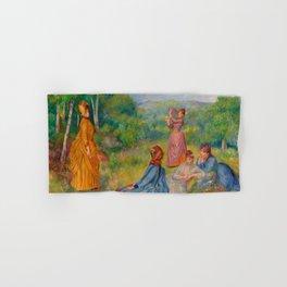"""Auguste Renoir """"Jeunes filles jouant au volant"""" Hand & Bath Towel"""